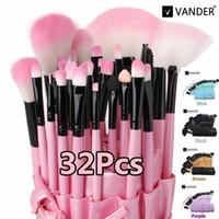 32pcs Maquillage cosmétique pinceaux Set Fondation de poudre Fondée Eye-liner Tool à lèvres Tool Brosse Maquillage Maquillage Brosses Beauté Outils Pincel Maquiagem