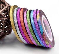 1 rotolo 1mm / 2mm / 3 millimetri chiodo di scintillio del nastro della striatura di linea per i chiodi della decorazione di DIY Nail Art Stickers rotola bellezza accessori DHL