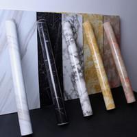 Salon Mutfak taksinin 1-10M Su geçirmez PVC Mermer Desen Çıkartma duvar kağıdı duvar Etiketler moistureproof Çıkarılabilir Kendinden yapışkanlı kağıt