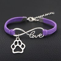 New Jewelry Dog Paws Charms Silver Heart Pendants Infinity L...