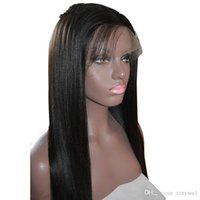 Straight Full High Temperature Silk Wigs for Women with Ligh...