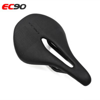 2018 EC90 Carbon + Leather Sella per bici da strada MTB Selle da bicicletta Mountain Bike Racing Sella PU traspirante Morbido cuscino del sedile