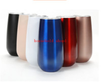 6oz Edelstahl Stemless Insulated Thermos Mug Vakuum Thermos Tasse Becher Swig Tumber OZ Egg Shaped Tasse Wein Bierkrug