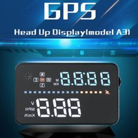 3.5inch HUDカーヘッドアップディスプレイGPSスピードメーターウィンシールドプロジェクターデジタルカースピードメーターOBD2車速警告システム