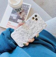 modèle en marbre du vent froid LNordic pour iPhone11promax XR XS Ma 7plus / 8 / 6s couvercle arrière étui rigide