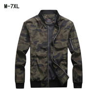 M- 7XL Jackets Mens Camouflage Coats Large Size Outerwear Ove...