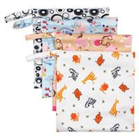 새 아기 기저귀 가방 기저귀 스태커 가방 방수 기저귀 주최자 휴대용 지퍼 유아 유모차 카트 가방 젖은 건조한 천으로 저장 가방