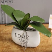 Artificial plant PU fake Butterfly orchid leaf simulation fl...
