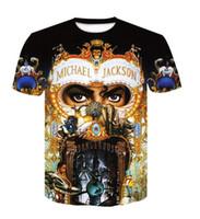 Новая мода Майкл Джексон футболки Мужчины Мода Одежда 3D Печать Мужчины Женщины Harajuku Стиль Streetwear Топы EL042