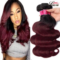 Charming queen Peruvian ombre human hair bundles body wave v...