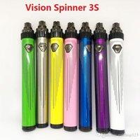 Nieuwe Vision Spinner 3S Batterij Vaporizer Vape 5 0 Thread 600mAh Variabele Voltage USB Instelbare batterijen E Sigarettenbatterij VS ego Vision 2