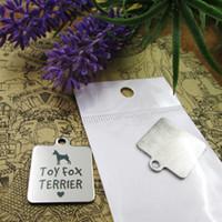 40pcs - «Игрушка фокстерьер собака» прелесть нержавеющей стали больше стиля для выбора DIY очаровывает подвески для ожерелья