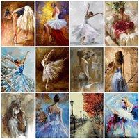 AZQSD Peinture par numéros Danseur de ballet à colorier By Numbers Arcylic Peinture à l'huile Portrait Photos Peinture à l'huile By Numbers
