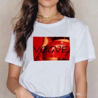 أزياء الذهب رواج تي شيرت المرأة الساخن بيع نمط الطباعة تي شيرت قصيرة الأكمام قميص كبير الحجم الإناث تي شيرت WC40