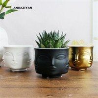 Man Face flower vase home decoration accessories modern cera...