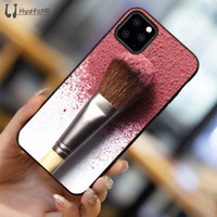 pintura pincel de maquiagem Telefone 2020 da menina bonita do iPhone para o caso do 11 pro XS MAX 8 7 6 6S Plus X 5 5S SE XR grossista