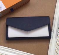 Femmes portefeuilles long véritable sac à main en cuir luxe dollar prix femme portefeuille occasionnel carteira feminina carte sacs Grand métal logo62647