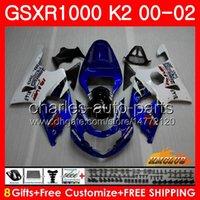 Cadre pour Suzuki GSX-R1000 GSXR1000 Stock Blue K2 GSX R1000 00 02 Body Kit 14HC.10 GSXR-1000 GSXR 1000 00 01 02 2000 2001 2002