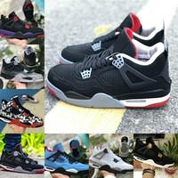 2019 Nike Air Jordan 4 retro jordans Noir Blanc Ciment Graffiti Cactus Cool Grey OG Hommes Chaussures De Basketball Designer 4 Travis Scotts Bred Rétro Baskets
