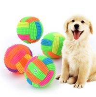 Flashing Football Shape Light Light Dźwięk Bouncy Ball Funny Kids Pet Dog Toy