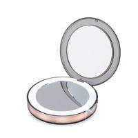 Миниатюрное зеркало для макияжа с подсветкой 3x Компактное дорожное портативное сенсорное зеркало для макияжа Sk88