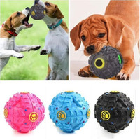 الكلب يمضغ اللعب الجرو الصوت الكرة تسرب الأغذية الكرة الصوت لعبة كرات الحيوانات الأليفة الكلب القط صار يمضغ جرو Squeaker مستلزمات الحيوانات الأليفة الصوت LXL842Q