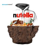 EHUANHOOD новая мода 3D кофты толстовки женщины / мужчины толстовка печати Nutella еда хип-хоп повседневный стиль Марка пуловеры топы MX191113