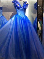 Newest Royal Blue Cinderella Quinceanera Dresses 2019 Butter...