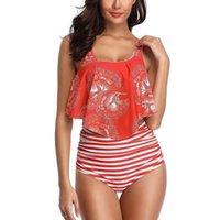 Ruffled Top Bathing Outdoor Summer Fashion Beach Hoilday Bik...