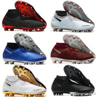 Mens Soccer Cleats Phantom VSN Elite DF AG sock Outdoor Socc...