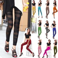 Ladies Casual leggings Sport Donna Fitness Yoga Pantaloni See-through Jogger Wear Hot Tights Tuta Immagine reale