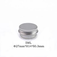 50PCS / LOT Envoi gratuit 5ml 27 * pots de crème pots aluminium 14mm avec couvercle à vis 5G boîtes en aluminium, contenant de baume pour les lèvres en aluminium