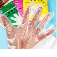 100 adet / torba Plastik Tek Kullanımlık Eldiven Gıda Hazırlık Eldiven Mutfak Pişirme Temizleme Gıda Taşıma Mutfak Aksesuarları Lateks Ücretsiz