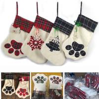 크리스마스 장식 애완 동물 동물 펜던트 장식 개 발 눈송이 나무 스타킹 양말 선물 랩 가방 크리스마스 홈 장식 XD19863