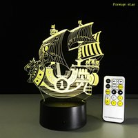 One Piece Miles Sunshine Lamp 3d Visual Led Lights For Kids Touch Usb Table Como Lampe Baby Sleeping Nightlight Usb Led Light Lamp