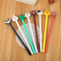 40 PCs Cartoon Animal Neutral Pen Cute Learning Stationery C...