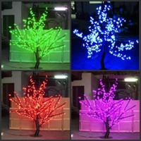 LED Boże Narodzenie Light Cherry Blossom Drzewo 480 SZTUK Żarówki LED 1.5m / 5 stóp Wysokość Kryty Lub Outdoor Użyj Darmowa Wysyłka Drop Shipping Raindoodporna
