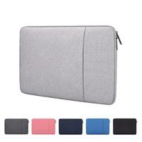 Sac à manches portables avec poche pour MacBook Air pro Ratina 11.6 / 13.3 / 15.6 pouces 11/12/13/14/15 pouce Couverture de boîtier pour Dell HP