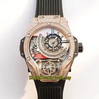 Miglior versione 45mm 1120 18K Diamante oro rosa 18 carati Gelato Giappone Giappone Miyota Automatic Mechanical Mens Orologio in acciaio Cassa in acciaio Gomma Orologi sportivi 09