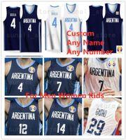2019 World Cup Team Basket Baskey Jersey Argentina 12 Marcos Delia 3 Luca Vildoza 9 Nicolas Brussino 10 Maximo Fjellerup 8 Nicolas Laprovittola