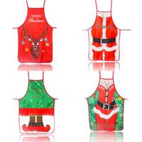 Grembiule in twill tessuto arte decorazioni natalizie grembiuli stampa a colori multi colori modello cartone animato abito da festa nuovo arrivo 6mz L1