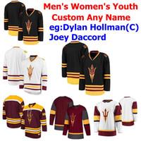 Custom Arizona State Stad Sun Devils Jerseys Dylan Hollman Jersey Austin Lemieux Jacob Wilson Louie Rowe College Collège Jerseys cousu