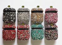 الماس Airpod حالة بلينغ سماعة غطاء كامل حامي حقيبة لأبل بلوتوث اللاسلكية سماعة الشحن مع الأغطية صندوق البيع بالتجزئة Airpods