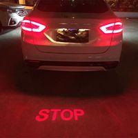 Coche anticolisión láser luz de niebla auto Anti-niebla ES Aparcamiento frenado los indicadores de señales de la motocicleta LED Luz de advertencia de coche-Styling