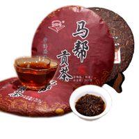 357g Olgun Pu Er Çay Yunnan mabanggongcha Pu er Çay Organik Pu'er En Eski Ağacı Pişmiş Puer Doğal Siyah Puerh Çay Kek Fabrikası Direkt Satış