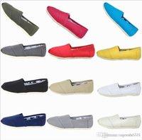frete grátis 2019 HOT calçados casuais mulheres / homens clássicos TOM MRS preguiçosos das sapatas de lona Flats no deslizamento-sapatos preguiçosos tamanho 35-45 presente