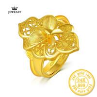 Xxx Zzz Jeweast 2017 New Hot Lovers '24k oro amarillo puro con decoración de flores Charmfashion joyería fina para boda Y19052301