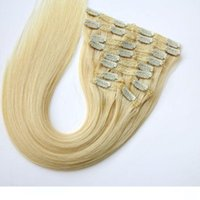 120g 10pcs 1Set Clip in Hair Extensions Brazilian Human Hair...