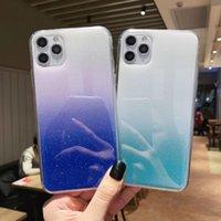 Gradient Glitter Folie weicher TPU Fall für Iphone 11 Pro Max XR XS MAX X 8 7 Transparent Confetti Sequin Flake-Telefon-Abdeckung