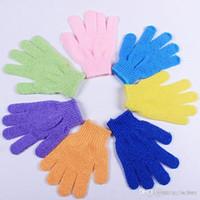 Feuchtigkeitsspendende Spa Haut Badhandschuhe Peeling Handschuhe Stoff Scrubber Gesicht Körper Badhandschuhe sortierte Farben freies Verschiffen
